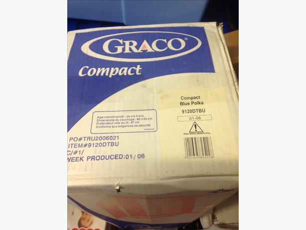 brand new boxed graco baby play pen in blue