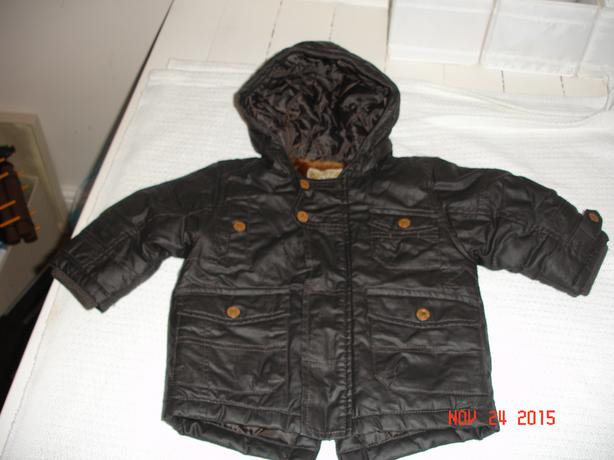 Boys 6-9 mth Brown winter coat