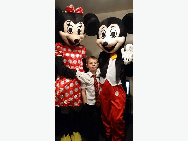 mickey mouse or minnie mouse mascot costume hire
