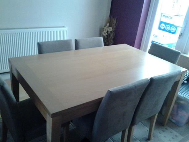 DINING TABLE 6 CHAIRS FROM HOMEBASE VGC