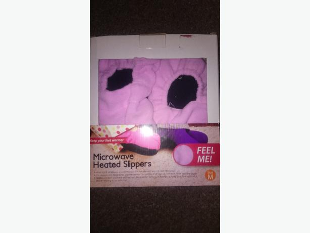 microwave heated slippers size medium £3.50