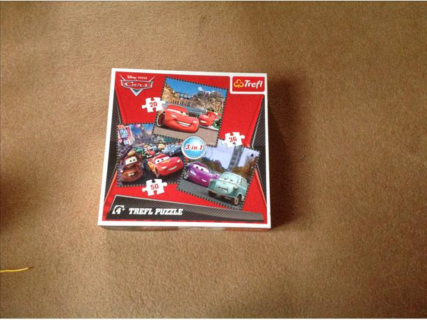 Disney cars jigsaw x 3