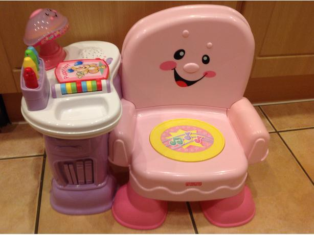 Fisher Price girl Pink Laugh & Learn Musical Learning Chair Activity Educational