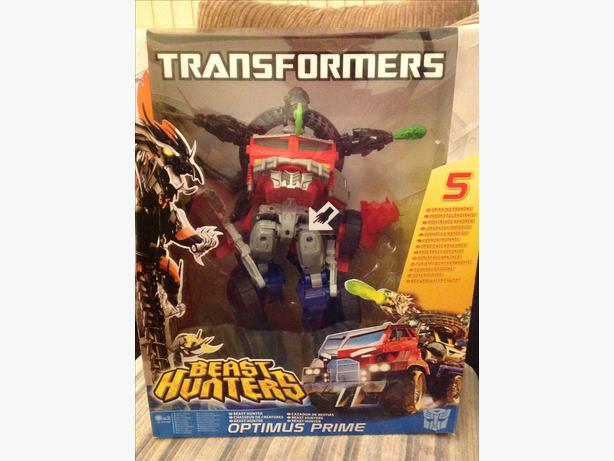 "TRANSFORMERS OPTIMUS PRIME LARGE BEAST HUNTER 14"" tall Hasbro"