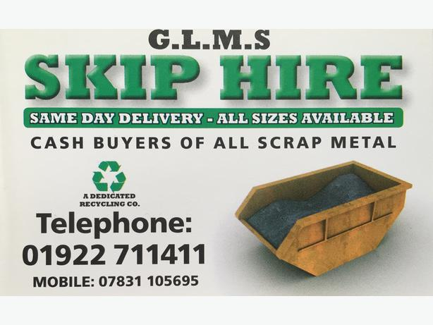 SKIP HIRE IN WALSALL AND SURROUNDING AREAS