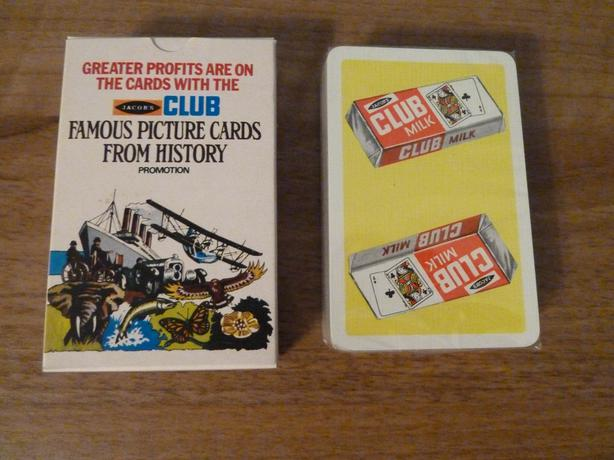 RARE VINTAGE 1970s SEALED DECK OF PLAYING CARDS-JACOBS FAMOUS PICTURE CARDS