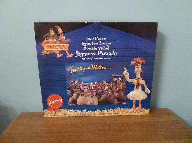 CHICKEN RUN DOUBLE SIDED PUZZLE - RARE COLLECTIBLE-EGGCELLENT CONDITION