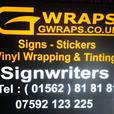 gwraps signwriters west midlands