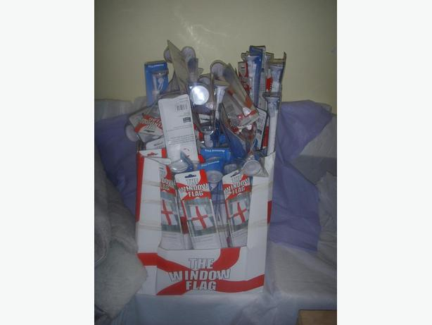 box of st georges window flags