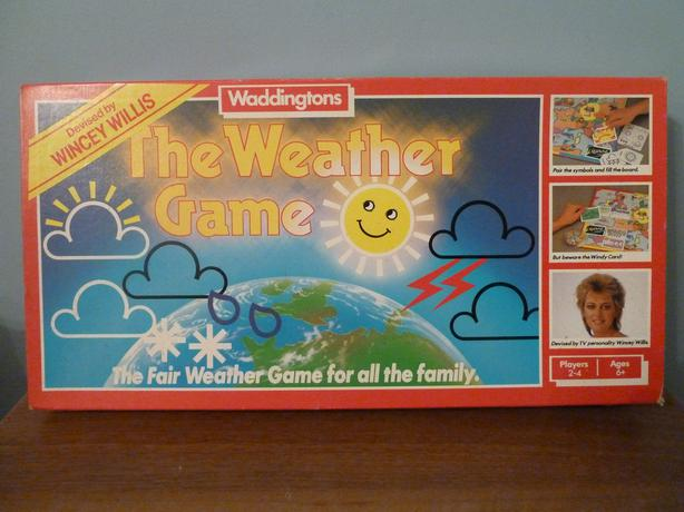 THE WEATHER GAME by WINCEY WILLIS - WADDINGTONS VINTAGE 1986 - ALL COMPLETE