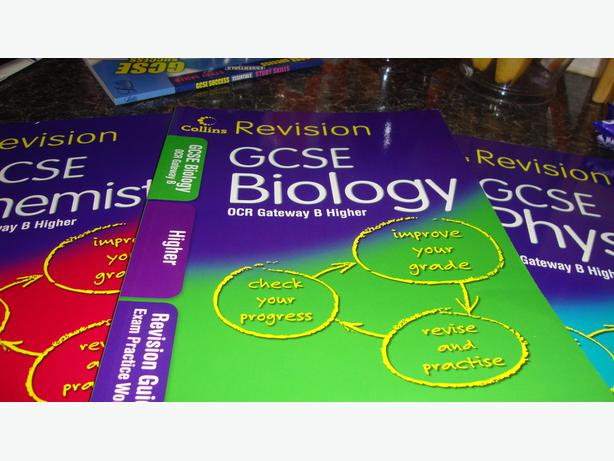 GCSE physics, GCSE chemistry and GCSE biology books