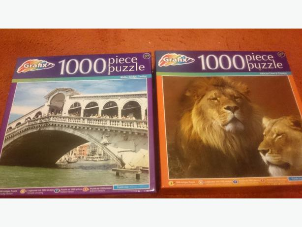 x2, 5yrs+, 1000 piece jigsaw puzzles  £1.50each or both for £2.50
