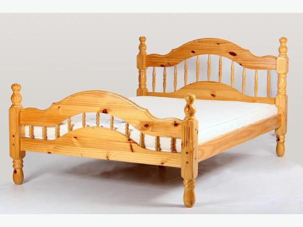 PADOVA CHUNKY PINE DOUBLE BED