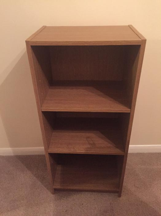 Small extra deep bookcase oak effect west bromwich dudley How deep should a bookshelf be