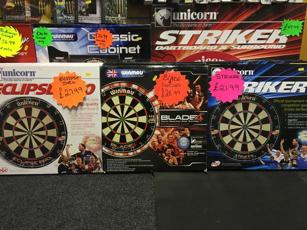 Dart Boards & Dart Centers @ Proline Tackle
