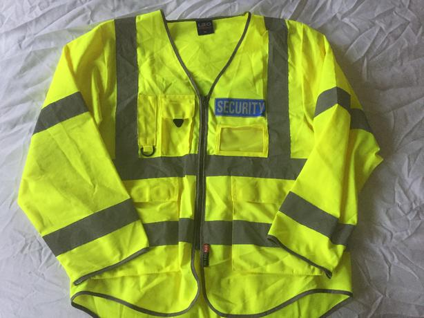 security hiviz vest with sleeves