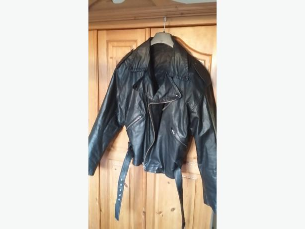 old school leather jacket