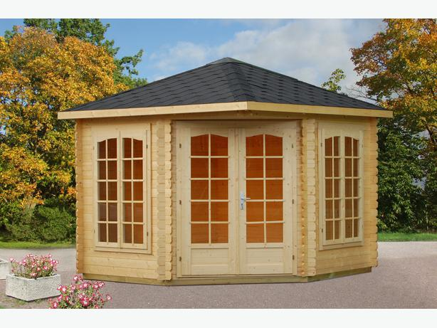 Garden Summer House Wooden Patio Cabin Office Shed Summerhouse 6x8m