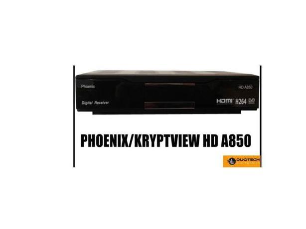 Kryptview Phoenix A850 HD DVB-C DVB-T2 Receiver