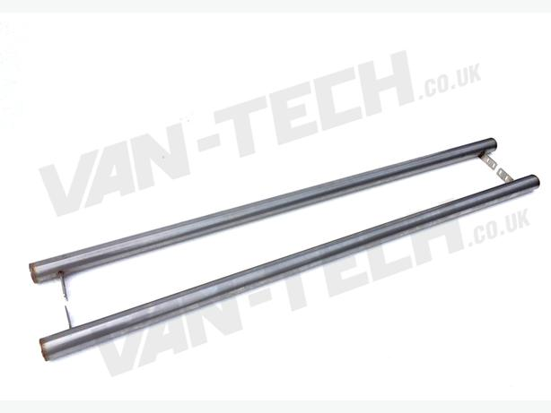 VW T5 SWB LWB Transporter Flat End Side Bars Stainless Steel rat look