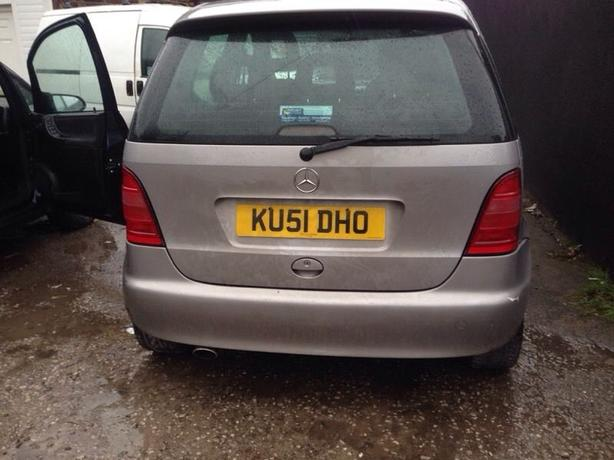 Mercedes a class boot tailgate Bootlid complete silver 1997-2004 W168