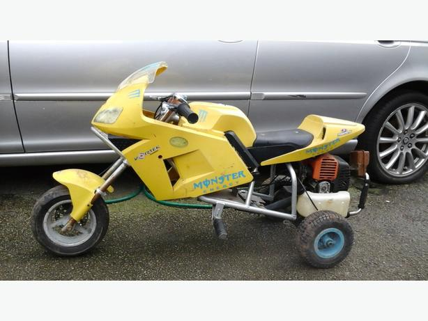 Mini moto bike trike 50 cc petrol engine mountain board project