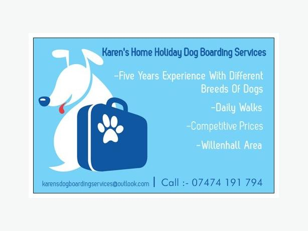 Karen's Home Holiday Dog Boarding Services