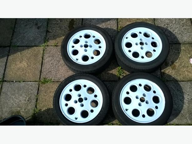 15' 4x98 SPEEDLINE PEPPER POT ALLOYS, FITS FIAT, ALFA ROMEO, LANCIA