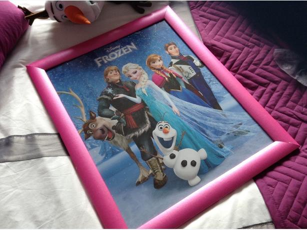 Frozen picture frame LARGE (Elsa, Anna, Olaf etc)