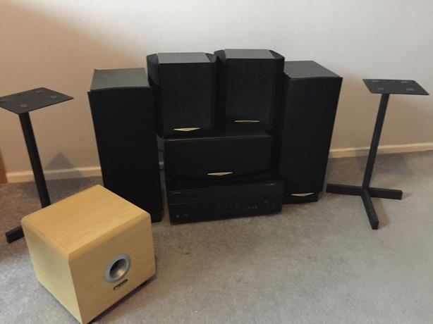 Kenwood 5 speakers, Yamaha receiver, Bass 200£