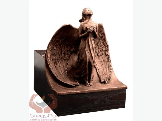 Unique Artistic Cremation Urn Relief- Angel Funeral Urn for Adult