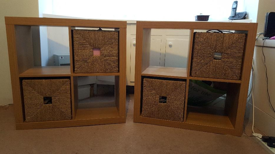 san francisco 7a6e6 7674f £25 · Ikea kallax shelving unit in oak effect