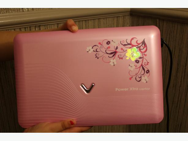 vtech laptop in pink