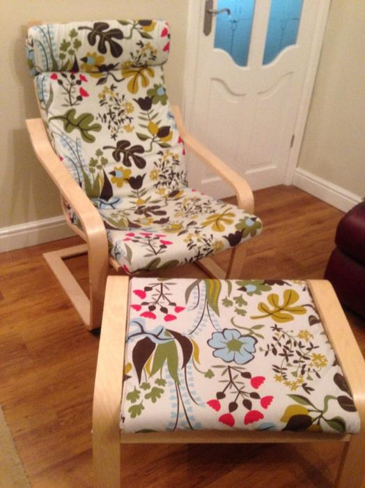 Super 50 Ikea Poang Chair And Foot Stool Ibusinesslaw Wood Chair Design Ideas Ibusinesslaworg