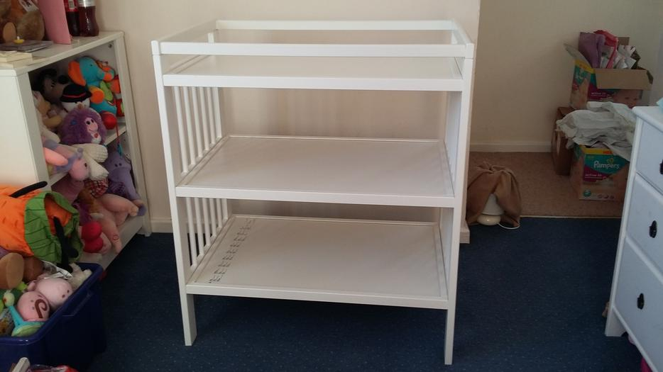 CHANGING TABLE (Ikea) - White Other Black Country Location ...