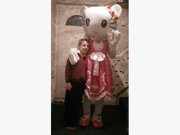 Hello kitty mascot costume hire
