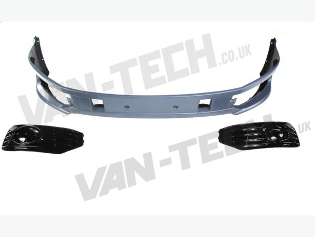 VW Transporter T5 Van 2010 onwards front bumper spoiler