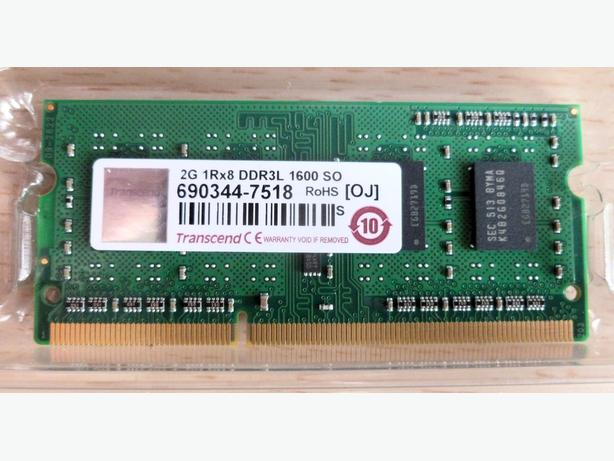 BRAND NEW TRANSCEND 2GB DDR3L 204PIN SO-DIMM MEMORY FOR SALE