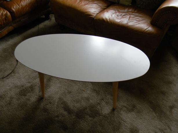Log In Needed 20 Tesco Miami Retro Style Coffee Table Taupe In Excellent Condition