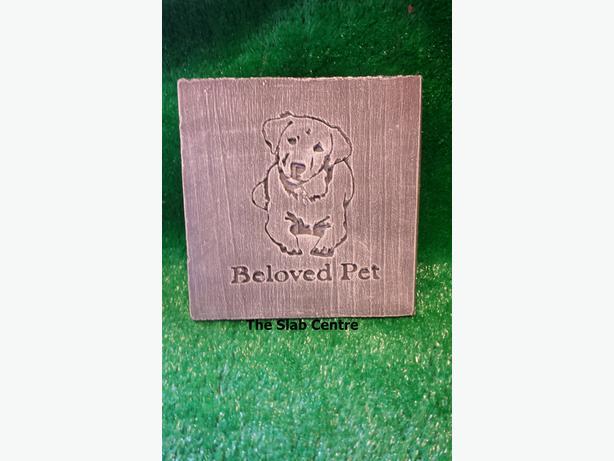 Cat & Dog Concrete Memorial Plaques