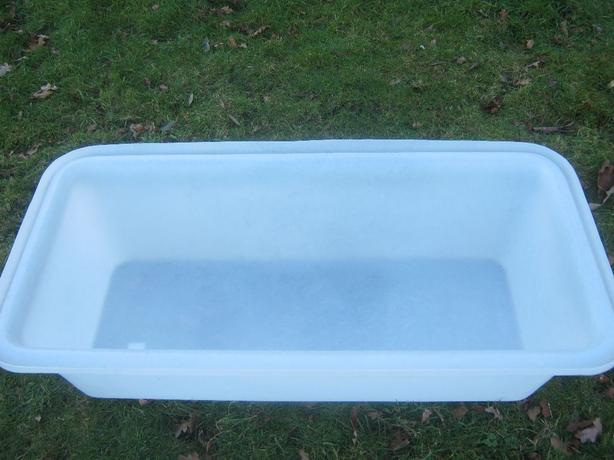 White Plastic Plasterers Mixing Bath.