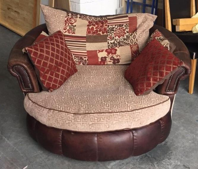 Large Swivel / Cuddle Chair&3 Seater sofa. WE DELIVER ...
