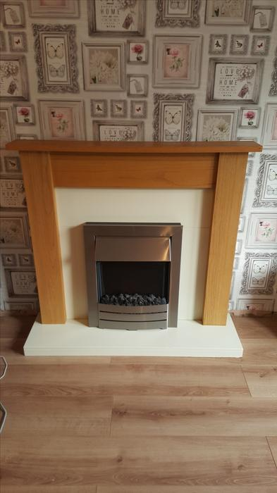 Fireplace Surround With Electric Fire 50ono Sedgley Dudley