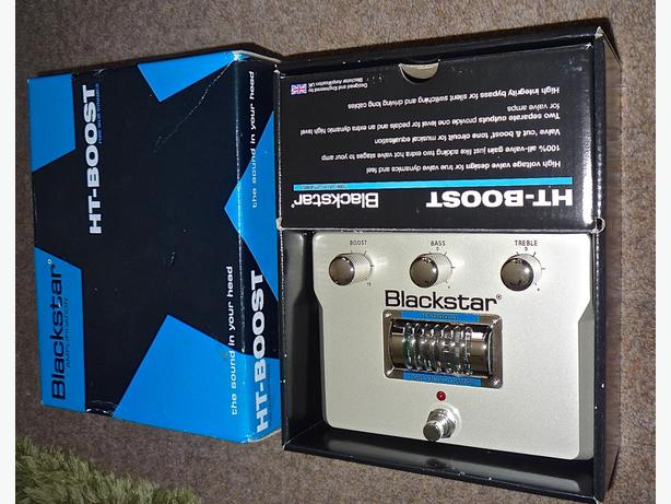 Blackstar HT Boost Effects Pedal boxed as new.