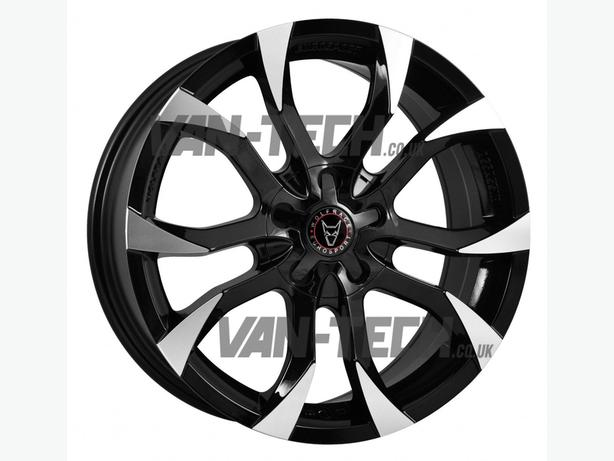 New Wolfrace Assassin 18″ Black / Polished Alloy Wheels for VW T5