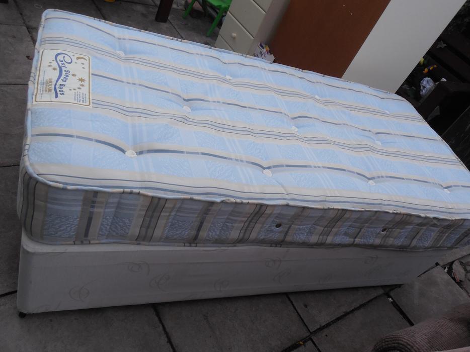 Single Divan Bed Orthopaedic Mattreee For Sale Dudley