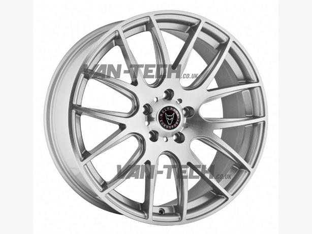 Wolfrace Munich 18″ Hyper Silver Alloy Wheels for VW T5 Transporter