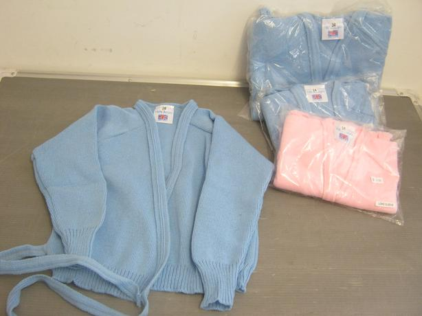 Assorted Ballet Cross Over Cardigan Pink And Blue