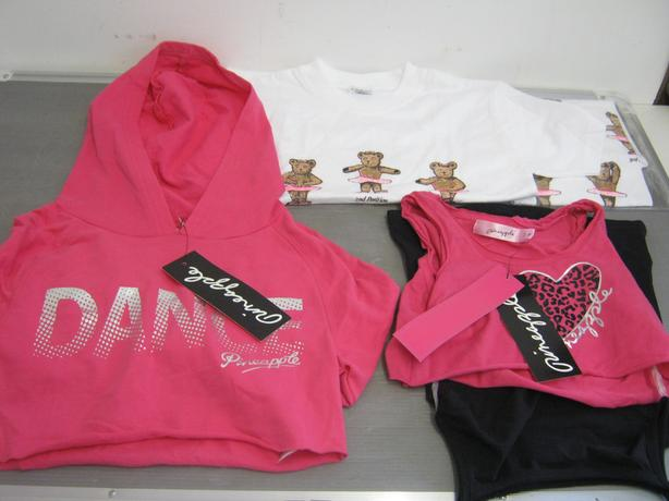 Assorted Pineapple DanceWear 7-8 Years Hoodie 2 x T-shirts Leopard Vest