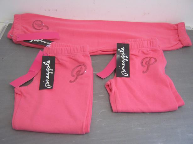 Assorted Pineapple Pink Roll Cuff Joggers